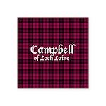Tartan - Campbell of Loch Laine Square Sticker 3