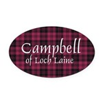 Tartan - Campbell of Loch Laine Oval Car Magnet