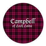 Tartan - Campbell of Loch Laine Round Car Magnet