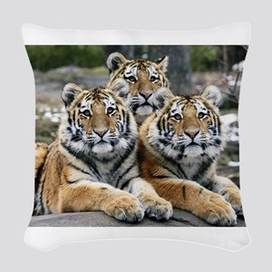 TIGERS Woven Throw Pillow