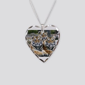 TIGERS Necklace Heart Charm