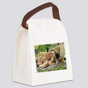 LION FAMILY Canvas Lunch Bag