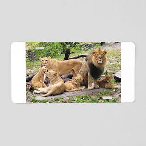 LION FAMILY Aluminum License Plate