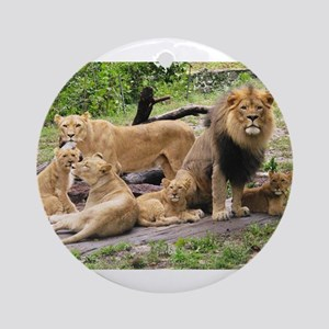 LION FAMILY Ornament (Round)