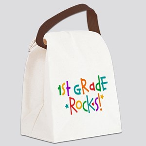 1st Grade Rocks Canvas Lunch Bag