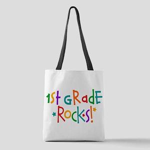 1st Grade Rocks Polyester Tote Bag