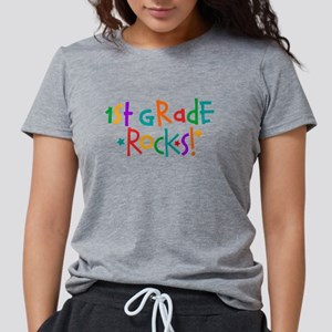1st Grade Rocks Womens Tri-blend T-Shirt