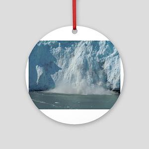 Alaskan Ice Fall Ornament (Round)