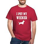 I Pet My Wiener dachshund Dark T-Shirt