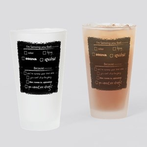 barcrawl_back Drinking Glass
