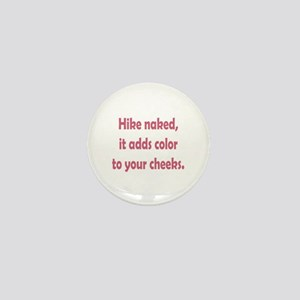 Hike Naked Mini Button