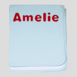 Amelie Santa Fur baby blanket