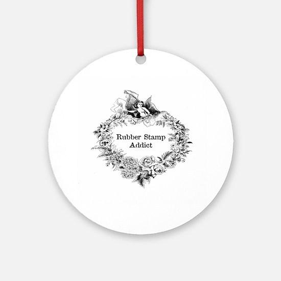 Rubber Stamp Addict Ornament (Round)