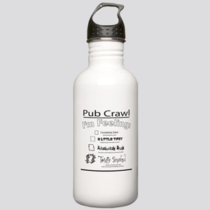 pubcrawl_back Stainless Water Bottle 1.0L