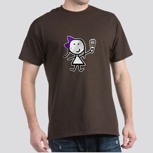 Purple Girl & Coffee Dark T-Shirt