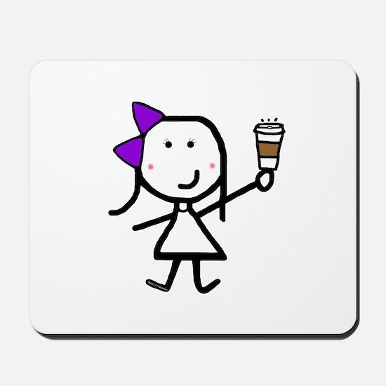 Purple Girl & Coffee Mousepad