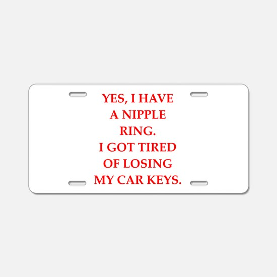 ring Aluminum License Plate