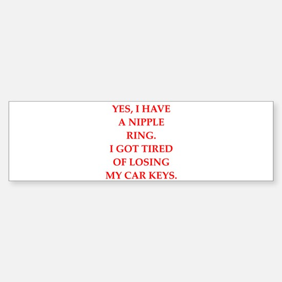 ring Bumper Car Car Sticker