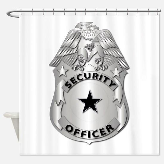 Gov - Security Officer Badge Shower Curtain
