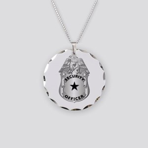 Gov - Security Officer Badge Necklace Circle Charm