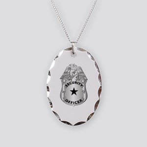 Gov - Security Officer Badge Necklace Oval Charm