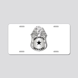 Gov - Security Officer Badge Aluminum License Plat