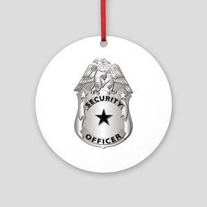 Gov - Security Officer Badge Ornament (Round)