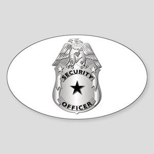 Gov - Security Officer Badge Sticker (Oval)