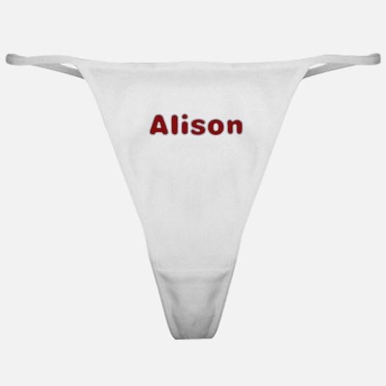 Alison Santa Fur Classic Thong