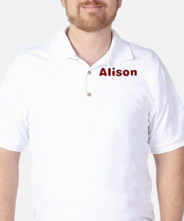 Alison Santa Fur Golf Shirt