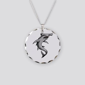 Hammerhead Shark Necklace Circle Charm