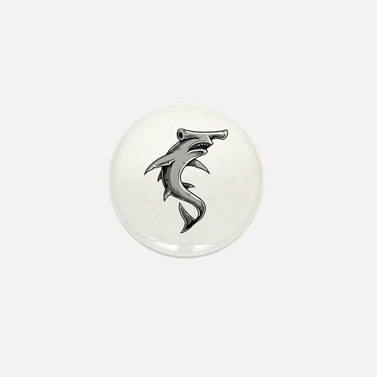 Hammerhead Shark Mini Button