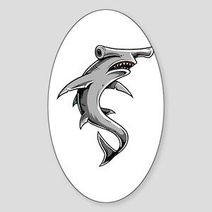 Hammerhead Shark Sticker (Oval)