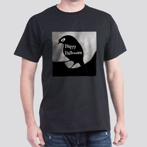Happy Halloween Black Bird Full Moon T-Shirt