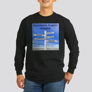 Virginia Long Sleeve Dark T-Shirt