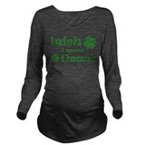 St patricks day i wish i was drinking Dark Long Sleeve Maternity T-Shirt