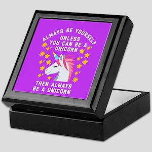 Always Be Yourself Unicorn Keepsake Box