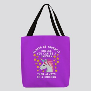 Always Be Yourself Unicorn Polyester Tote Bag