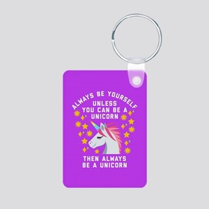 Always Be Yourself Unicorn Aluminum Photo Keychain