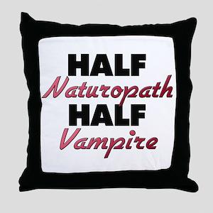 Half Naturopath Half Vampire Throw Pillow