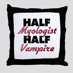 Half Myologist Half Vampire Throw Pillow