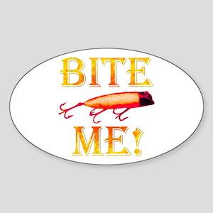 Bite Me! Oval Sticker