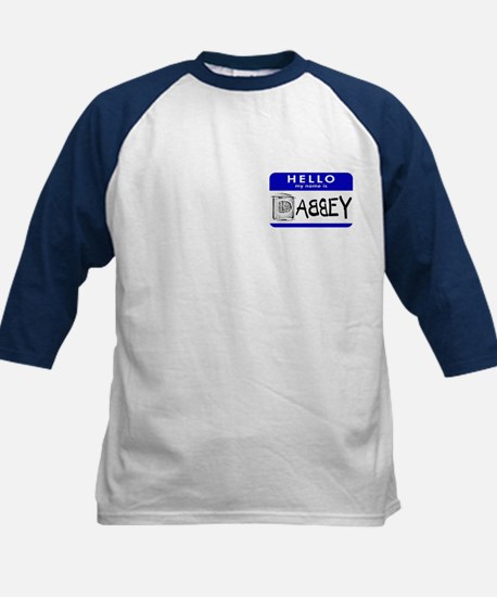 Hello, my name is Abbey Kids Baseball Jersey