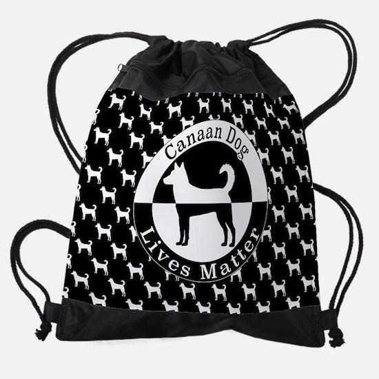 Canaan Dog Drawstring Bag