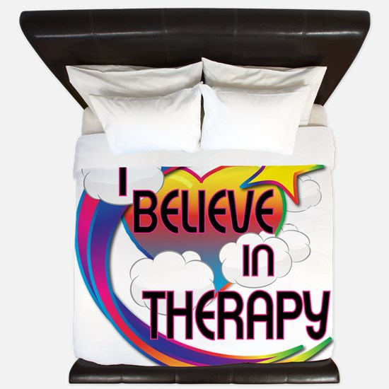 I Believe In Therapy Cute Believer Design King Duv