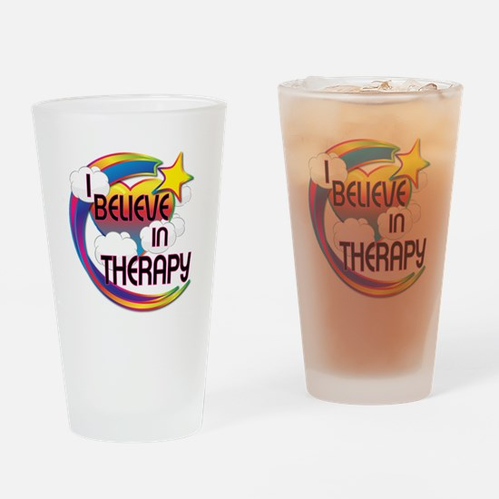I Believe In Therapy Cute Believer Design Drinking