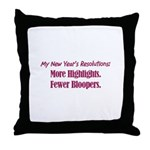 NY Resolutions  Throw Pillow