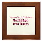 NY Resolutions  Framed Tile