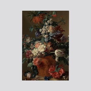 Vase of Flowers by Jan van Huysum Rectangle Magnet
