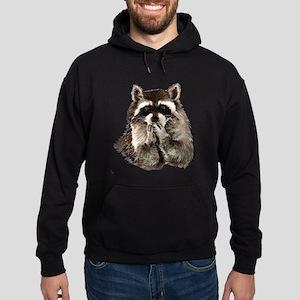 Cute Humorous Watercolor Raccoon Blowing a Kiss Ho